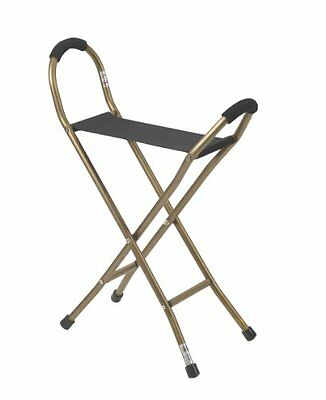 Drive Medical Folding Aluminum Cane with Sling Style Seat, B