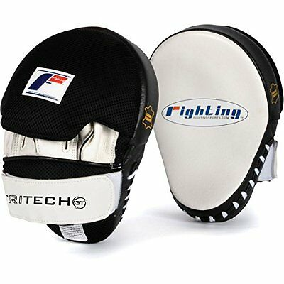 Fighting Sports Tri-Tech Curved Mitts, White/Black