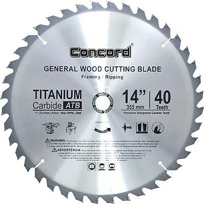 Concord Blades WCB1400T040HP 14-Inch 40 Teeth TCT General Purpose Hard & Soft...