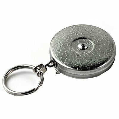 KEY-BAK #5 Retractable Reel with 24 Inch (61 cm) Stainless Steel Chain, Chr