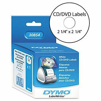Dymo Labelwriter Labels CD DVD 2.25IN Diameter, 160 Labels Per Roll, 1 Roll