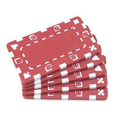 5 Rectangular Poker Chips - European Style Plaque by Brybell