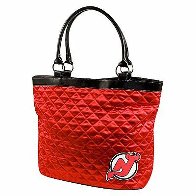NHL New Jersey Devils Quilted Tote, Bright Red