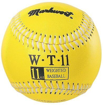 Markwort Weighted 9-Inch Baseballs-Leather Cover (Individually Boxed), Yell