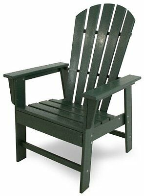 POLYWOOD SBD16GR South Beach Dining Chair, Green