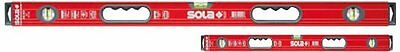 "Sola BIG RED 78"" and 32"" High Profile Aluminum Box Levels w/"
