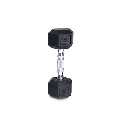 Cap Barbell Rubber Coated Hex Dumbbell with Contoured Chrome