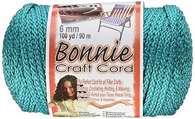 Pepperell 6mm Bonnie Macramé Craft Cord, 100-Yard, Turquoise