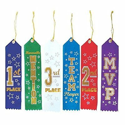 """Recognition Ribbons 7-1/2""""X2"""" 6/Pkg-Assorted"""