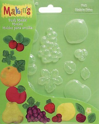 Makin's USA Push Clay Molds, Fruits