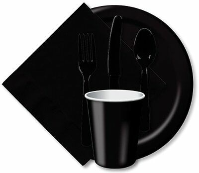 Black Party Assorted Cutlery Set
