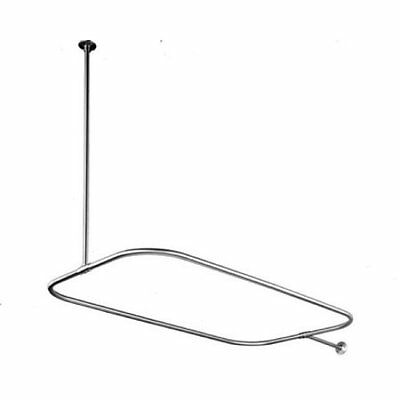 Kingston Brass CC3151 Rectangular Shower Rod for Clawfoot Tub, Polished Chr