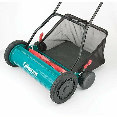 Gilmour RM30 20-Inch Adjustable Hand Reel Mower with Grass Catcher