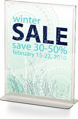 Officemate Upright Vertical Sign Holder  8.5 x 11 Inches  Clear  1 Holder (