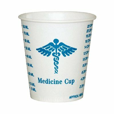 Solo R3-43107 Medicine Design Wax Coated Paper Graduated Cup 3 oz Capacity