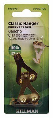 Hillman Professional Picture Hangers 50 Lb Brass Plated Blue Carded