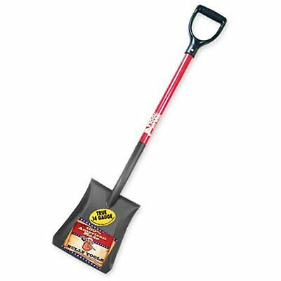 Bully Tools 82520 14-Gauge Square Point Shovel with Fibergla