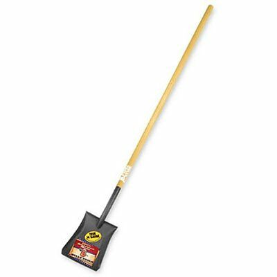 Bully Tools 72525 Commercial Grade Long Handle Square Point Shovel