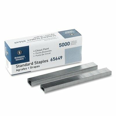 Business Source Chisel Point Standard Staples - Box of 5000