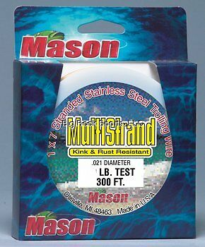 Mason MS-45 Multi-Strand Wire 45Lb 300ft 1x7 Stainless Brigh