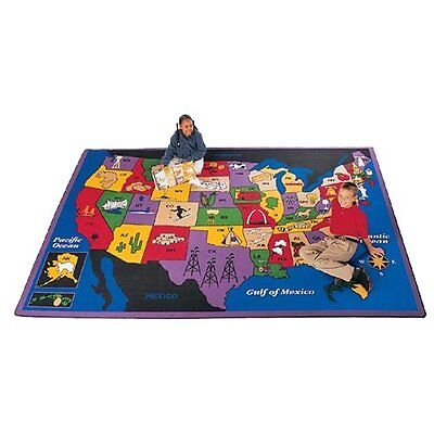"Geography Discover America Kids Rug Rug Size: 5'10"" x 8'4"""