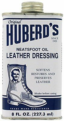 Huberds HLD Shoe Grease 8 Oz Neatsfoot Oil Leather Dressing
