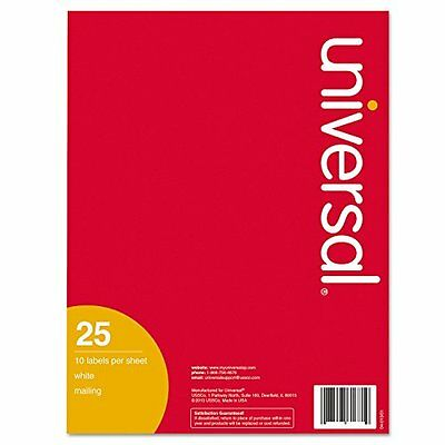 Universal Products - Universal - Inkjet Printer Labels, 2 x