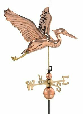 Good Directions 9606P Blue Heron Weathervane, Polished Copper