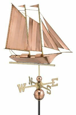 Good Directions 9601P Schooner Weathervane, Polished Copper