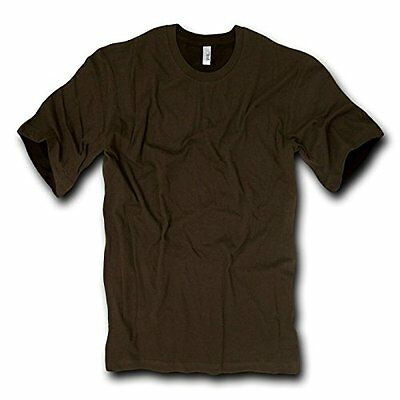 DECKY Combed Cotton Fashion Tee, Brown, Small