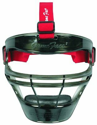 Markwort Game Face Sports Safety Mask (Smoke with Scarlet Po