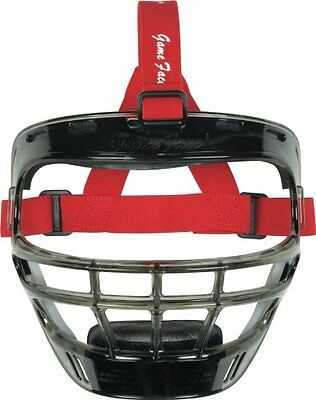 Markwort Game Face Sports Safety Mask, Smoke with Scarlet Po