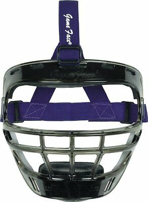 Markwort Game Face Sports Safety Mask (Smoke with Purple Pon