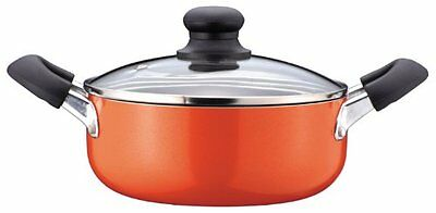 Mid fluorine machining glass lid with both hands pan 20cm gas fire [only] H-496