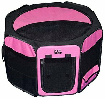 Pet Gear Travel Lite Octagon Pet Pen with Removable Top for Cat and Dog up