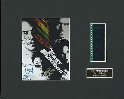 Fast And The Furious Film Cell Display Limited Edition  Extremely Rare