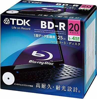 TDK Blu-ray BD-R Disk for PC Data   25GB 4x Speed 20 Pack (Japanese Import)