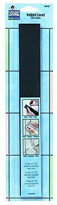 """Plaid:Craft Gallery Glass Instant Lead Lines, 12"""", Black 1/16"""" Thick, 21/Pa"""