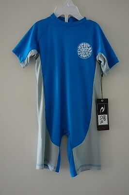 Rip Curl Boys Lycra Spring Suit - New - Size 4 Rash Swimmers Togs Upf 50+ Beach
