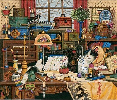 Dimensions Gold Collection Maggie The Messmaker Counted Cross Stitch Kit: 14x12
