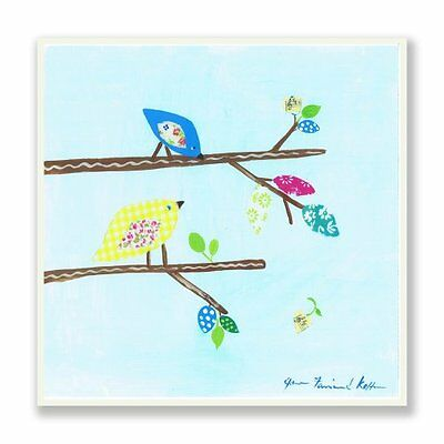 The Kids Room by Stupell Patchwork Bird on Branches Rectangl