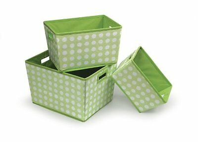 Badger Basket 3 Pack Polka Dot Nesting Trapezoid Shape Foldi