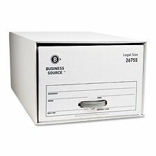 Business Source Storage Drawer, Letter, 12-1/2X23-1/2X10-1/4, 6/Ct, White