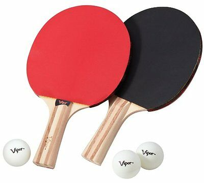 Viper Table Tennis Accessory Set, 2 Rackets/Paddles and 3 Ba