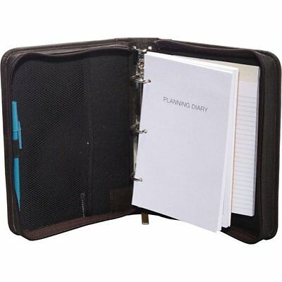 David King & Co. Zippered 3 Ring Agenda with Handle (Black)