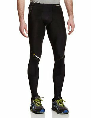 SKINS Men's A400 Long Tights , Black/Yellow, X-Small