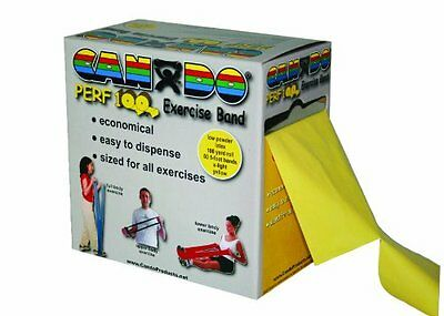 Cando 10-5191 Yellow Latex Perforated Exercise Band, X-Light Resistance, 10