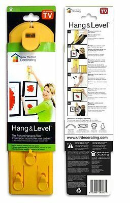Under the Roof Decorating 5-100117 Hang & Level Picture Hanging Tool, Yellow