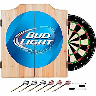 Trademark Bud Light Dart Cabinet Includes Darts and Board