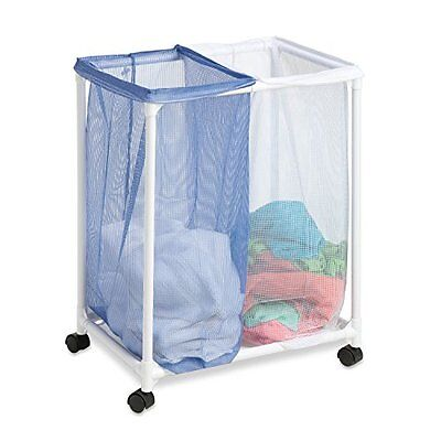 Honey-Can-Do HMP-01628 Mesh Laundry Sorter, Rolling, 2-Bag